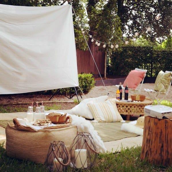 Movie Theatre Outdoor Cool Backyard Ideas