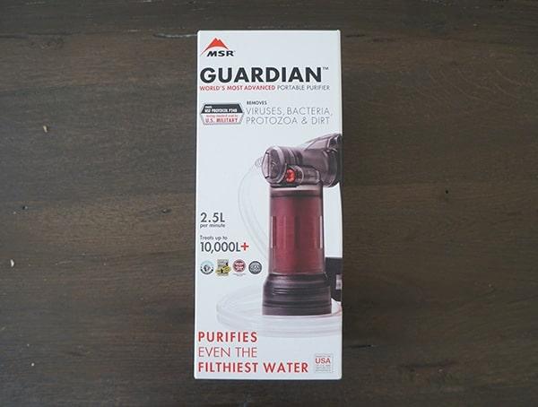 Msr Guardian Purifier Box Front