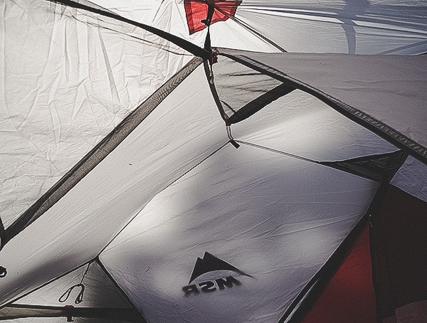 Msr Hubba Tour 3 Tent Ceiling With Built In Storage Mesh Nets