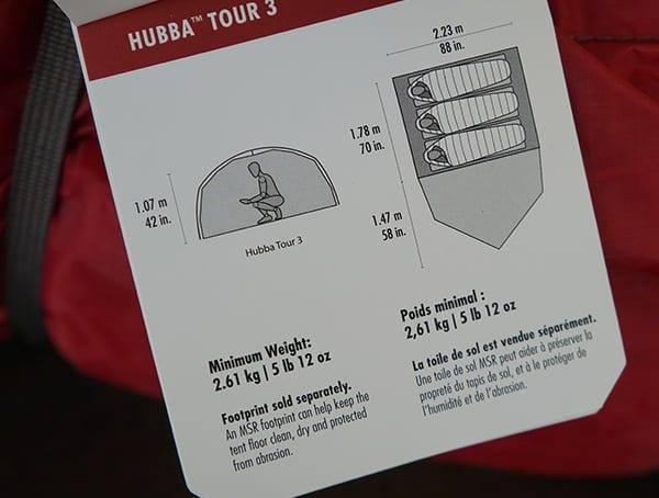 Msr Hubba Tour 3 Tent Interior Dimensions