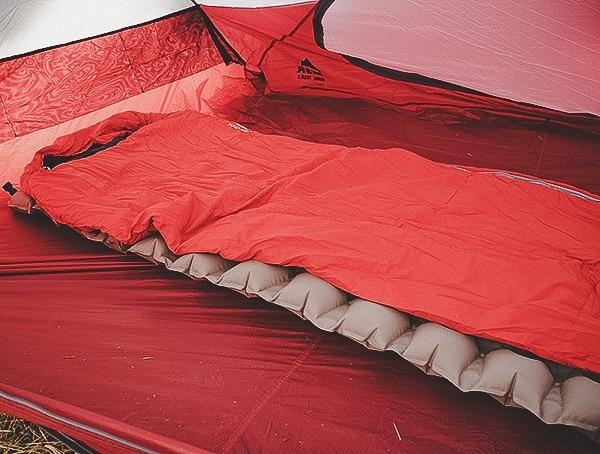Msr Hubba Tour 3 Tent With Sleeping Bag And Pad