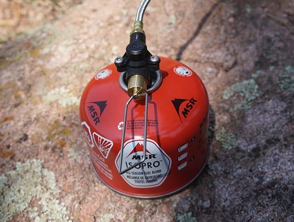 Msr Isopro All Season Fuel Blend Cainster For Windburner Stove With Pressure Regulator