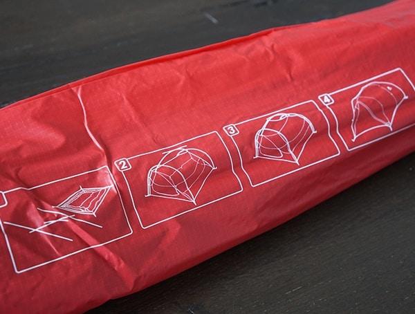 Msr Mutha Hubba Nx 3 Tent Setup Instructions On Bag