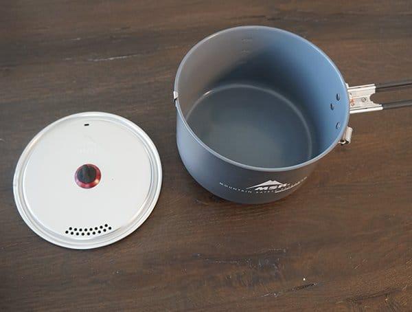 Msr Windburner Stove Aluminum Nonstick Pot With Strainer Lid