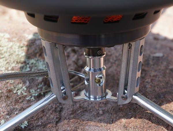 Msr Windburner Stove Detail Stable Retractable Legs On Rock