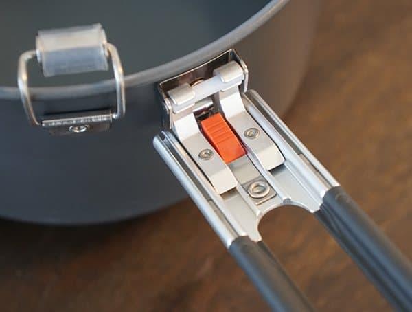 Msr Windburner Stove System Locking Handles On Aluminum Pot