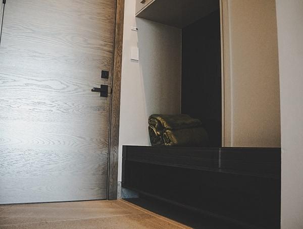 Mudroom Garage Entry Hall New American Home 2019