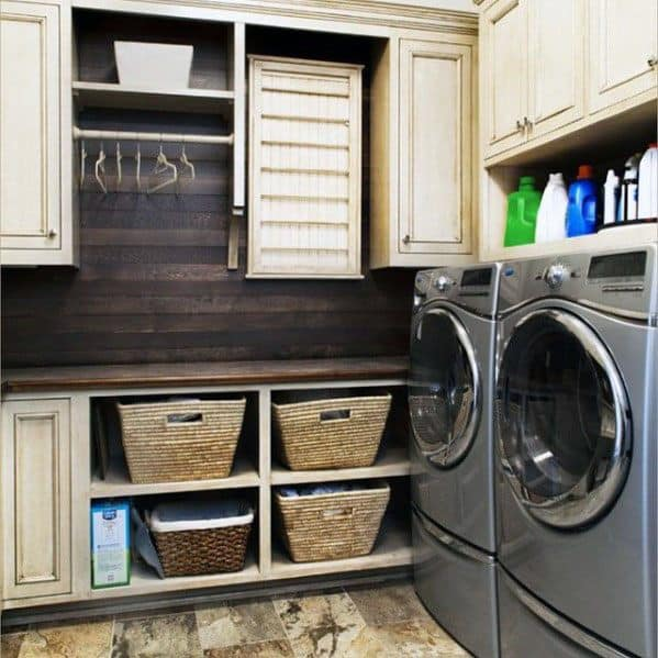 Mudroom Wood Backsplash Home Designs