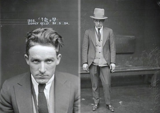 Mugshot From The 1920s Mens Gangster Fashion