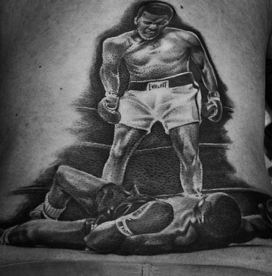 Muhammad Ali Back Guys Boxing Tattoo Ideas