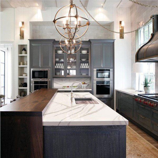 Top 70 best kitchen cabinet ideas unique cabinetry designs for Multi color kitchen ideas