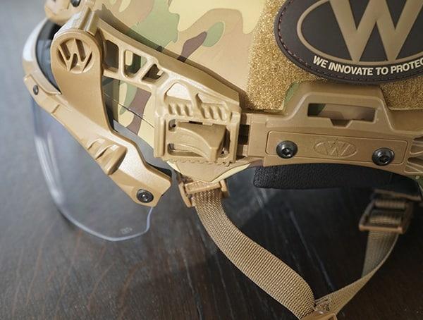 Multicam Camo Team Wendy Exfil Ballistic Sl Helmet Visor Attached To Rail