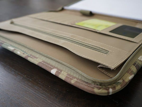 Multicam Coyote Brown Interior Mercury Tactical Zippered Padfolio