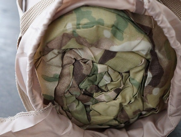 Multicam Snugpak Special Forces 1 Sleeping Bag Rolled Up