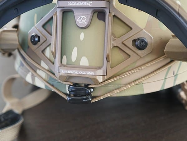 Multicam Team Wendy Exfil Sl Helmet With Shock Cord Installed