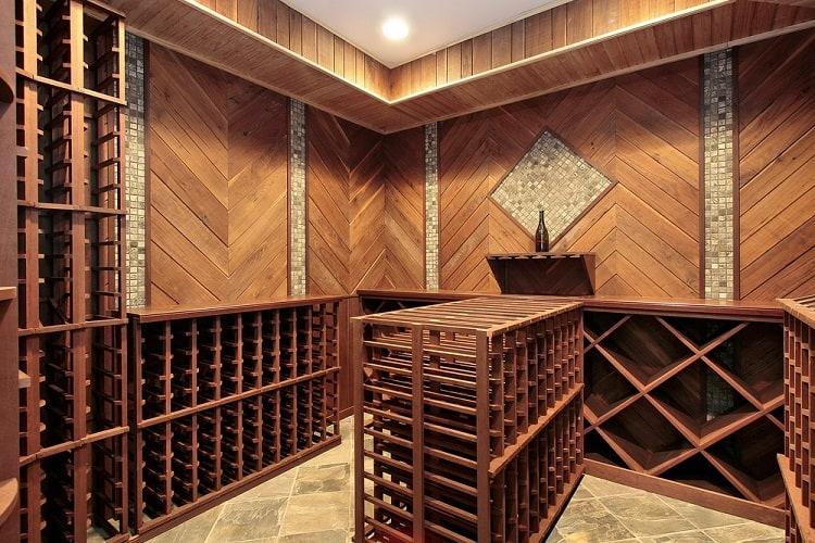 Multiple Racks Wine Cellar Basement Storage