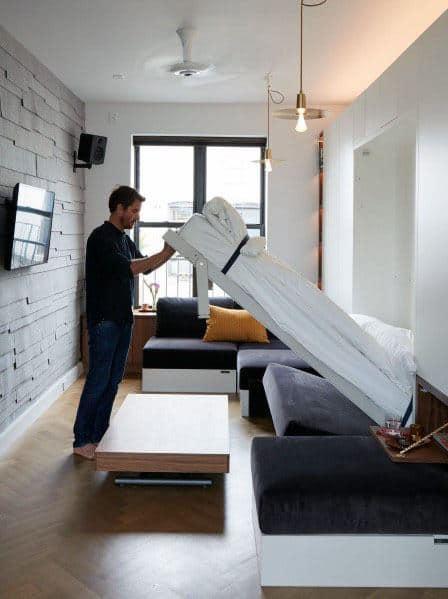 Murphy Bed Studio Apartment Ideas