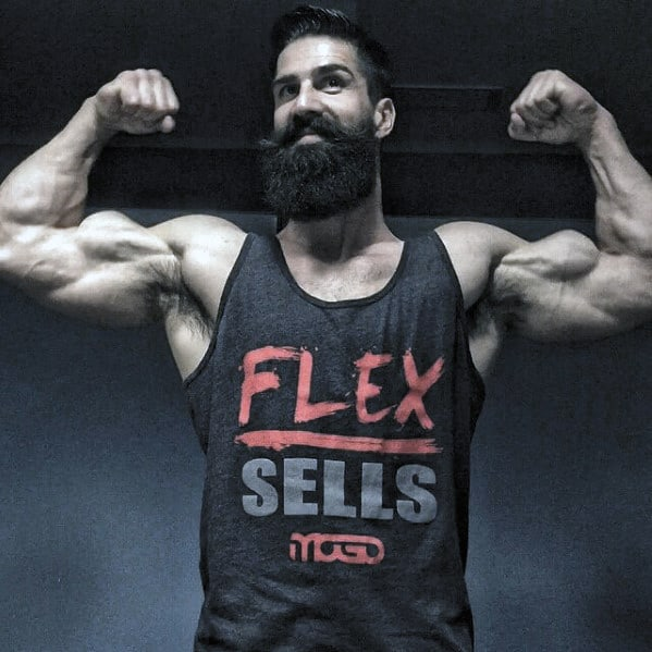 Muscular Man With Awesome Beard Style