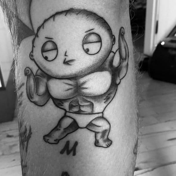 Muscular Stewie The Baby Guys Tattoo Family Guy