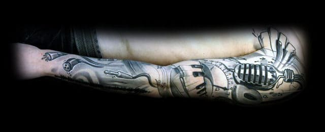 Music Sleeve Tattoos For Men