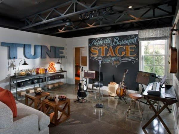 Palco musicale Cool Man Cave Ideas