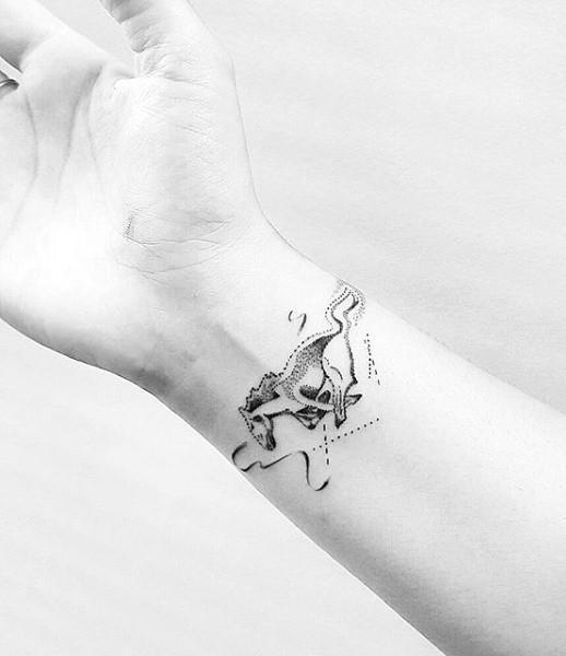 Mustang Wrist Tattoos For Guys