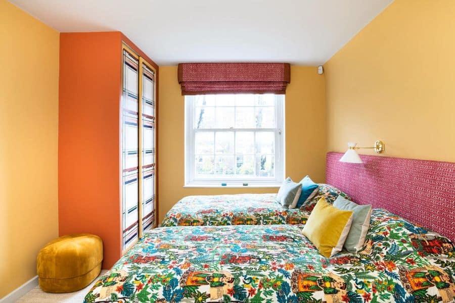 mustard or darker yellow interior bedroom ideas c.c.construction