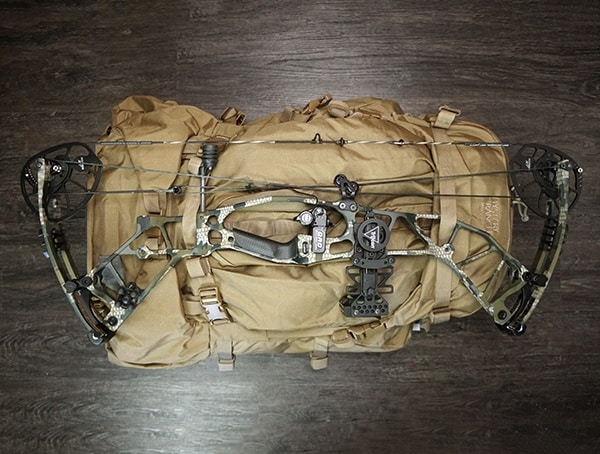 Mystery Ranch Marashall Bowhunting Pack With Hoyt Hyperforce Attached
