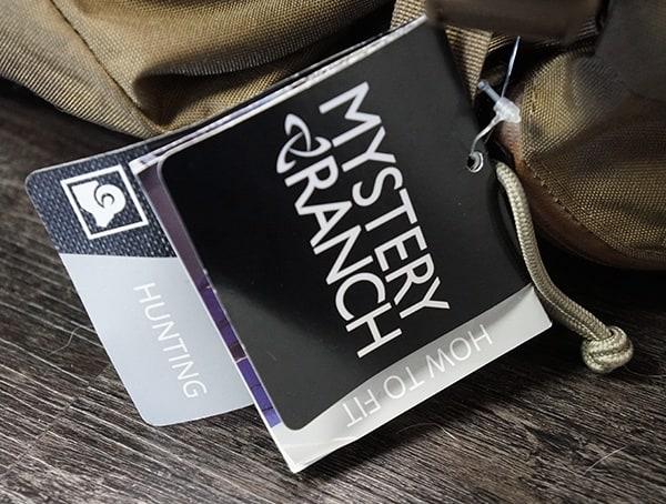 Mystery Ranch Marashall Label