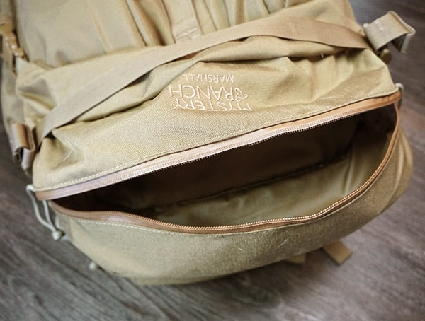 Mystery Ranch Marashall Top Compartment Open