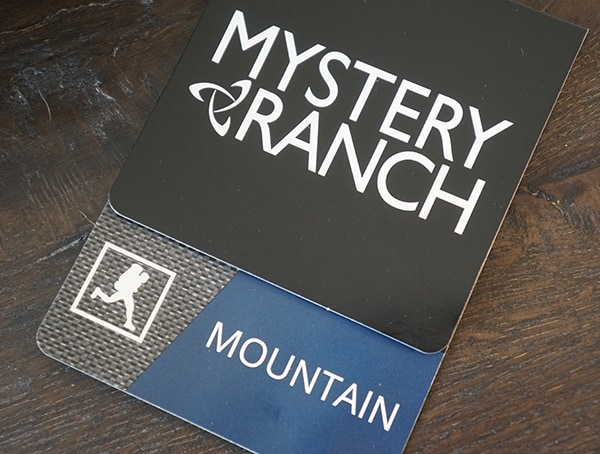 Mystery Ranch Mountain Series Pack Tag