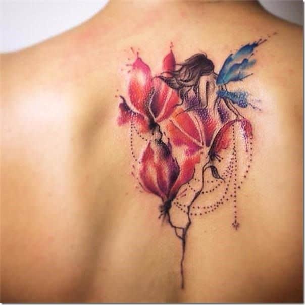 Mythology Unsual Love Fairy Tattoo