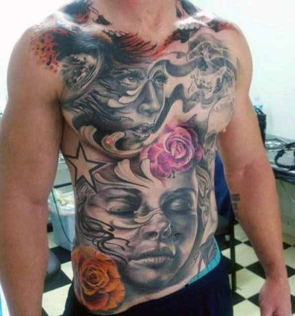 Name Tattoos On Chest For Men