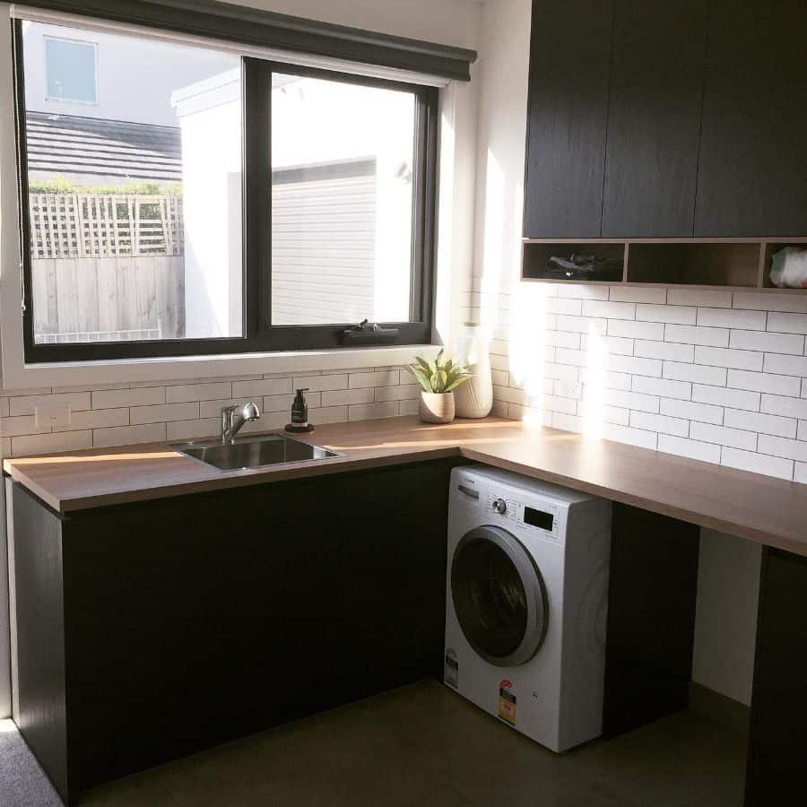 narrow laundry room sink ideas elenas.interiors