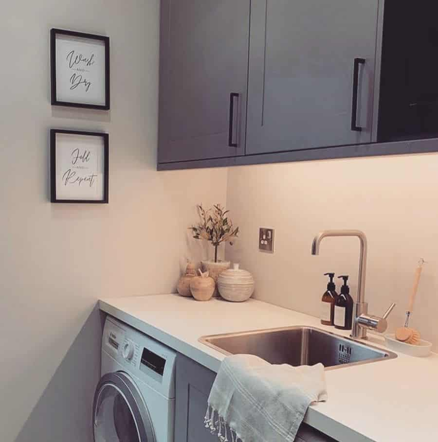 narrow laundry room sink ideas love_my_print