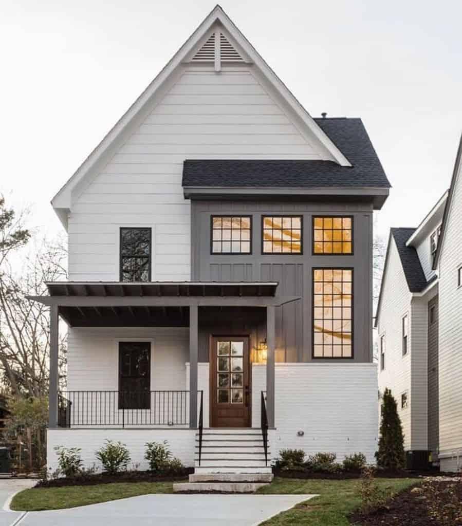 The Top 40 Best Modern Farmhouse Exterior Ideas - Exterior ...