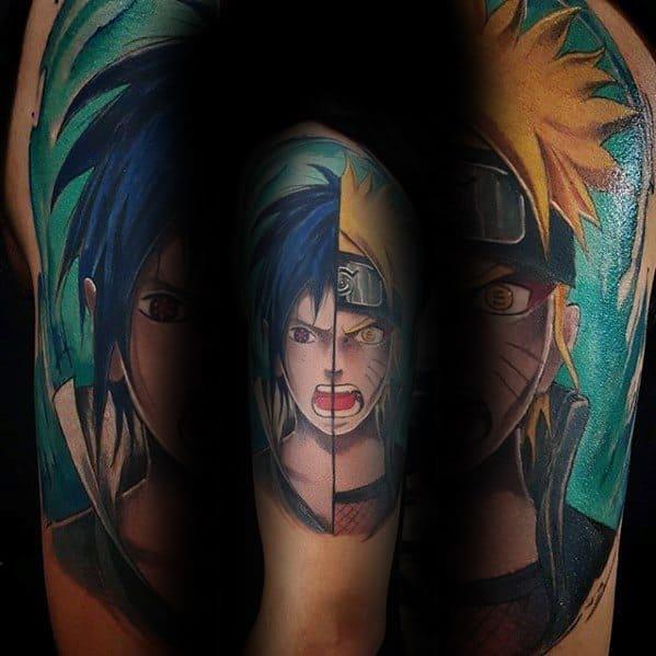 Naruto Tattoo Ideas For Gentlemen Half Sleeve