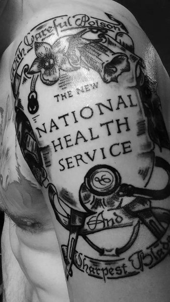 National Health Service Stethoscope Tattoo Designs For Men