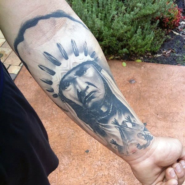 Native American Awesome Wrist Tattoos For Guys