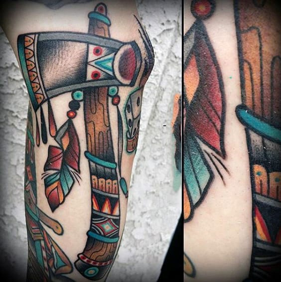 70 Tomahawk Tattoo Designs For Men