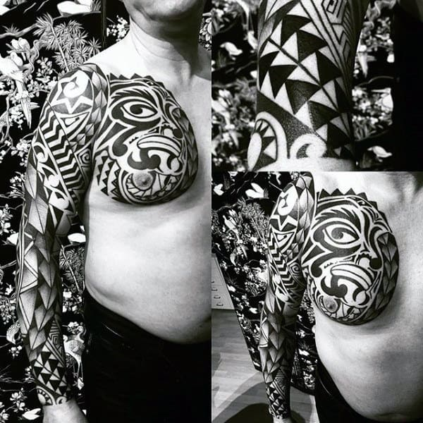 be909c925 100 Maori Tattoo Designs For Men -New Zealand Tribal Ink Ideas