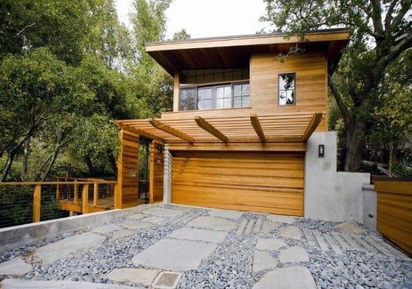 Natrual Stone Cheap Driveway Ideas