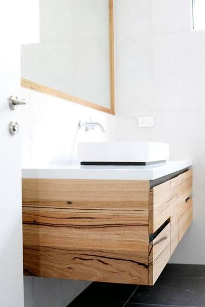 Natrual Wood Bathroom Vanity Ideas
