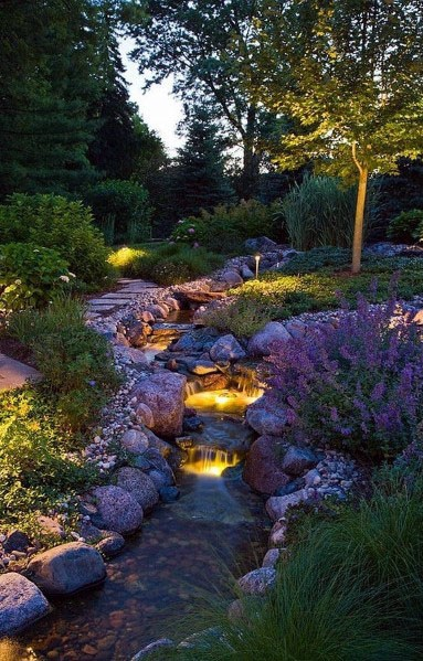 Natural Boulder Rock Slope Landscaping Design Ideas