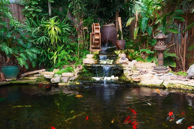 Natural Decorative Pond Backyard Waterfall