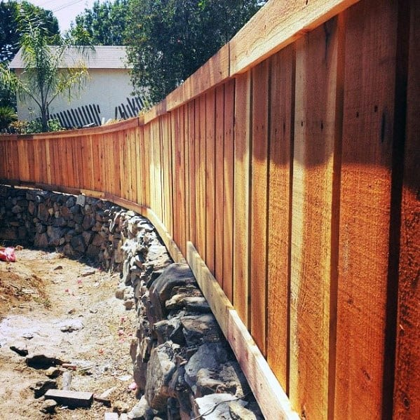 Natural Rock And Wood Backyard Ideas Dog Fence