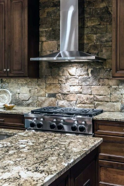 Natural Rock Stone Backsplash Home Designs