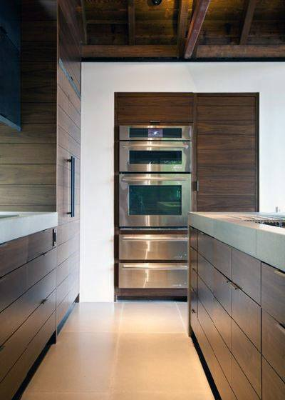 Natural Stained Wood Kitchen Cabinet Ideas