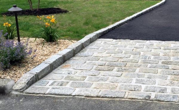 Natural Stone Driveway Border Edging Ideas