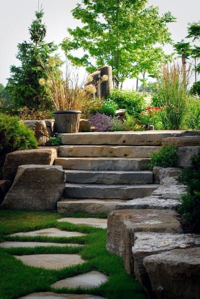 Natural Stone Flagstaff Exterior Ideas Stepping Stone